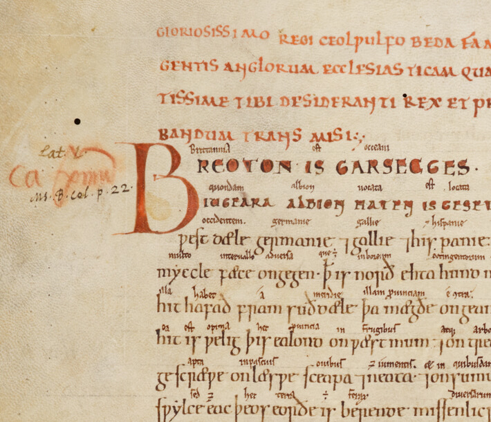 Old English translation of Bede